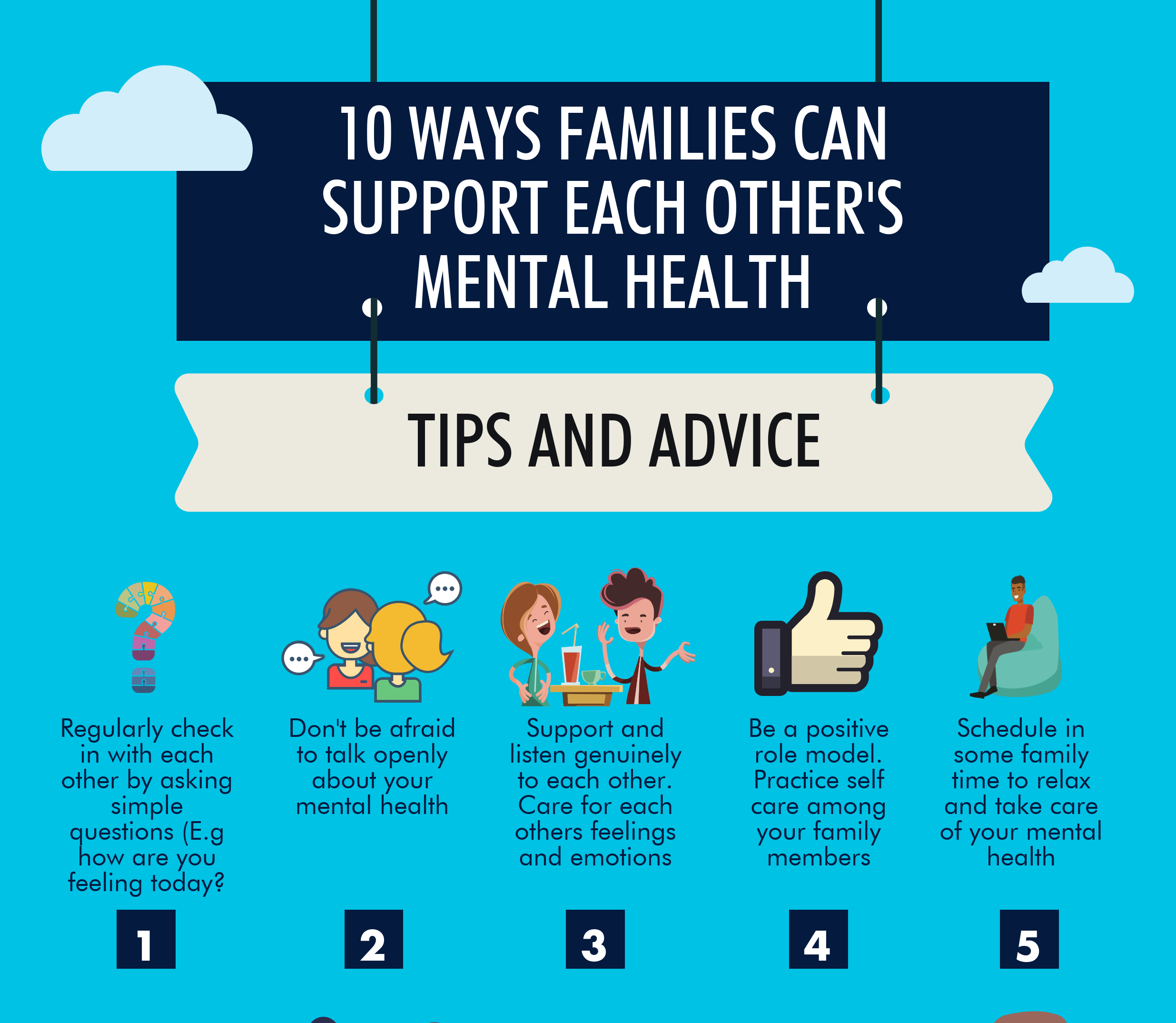 Steps Boosting Mental Health: 10 Ways Families Can Support Each Others Mental Health
